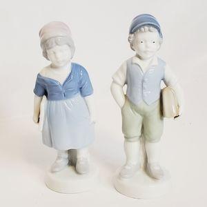 Vintage Gerold Porzellan Porcelain School Girl/Boy